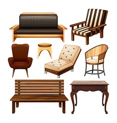 Chairs and table vector