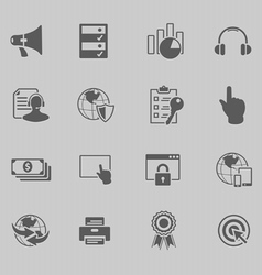 Web technology icon set vector