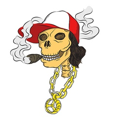 Hiphop bone smoke vector