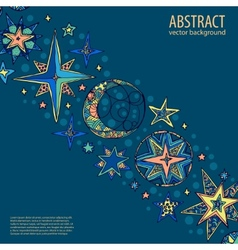 Blue starry fantastic background vector