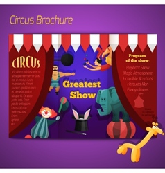 Circus performance brochure vector