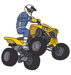 Rider on the atv vector