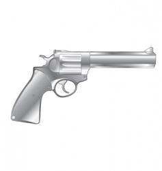Silver gun vector