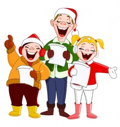 Christmas carolers vector