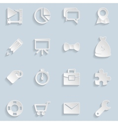 Paper seo icons vol 2 vector