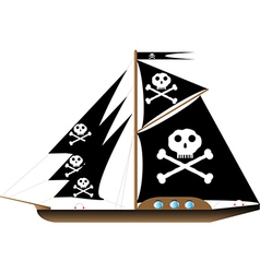 Pirate vessel on white vector