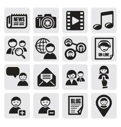 Social network set vector