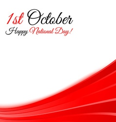 1st october national day background template vector