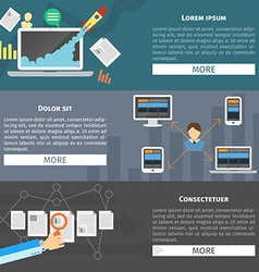 Flat design concepts for business vector