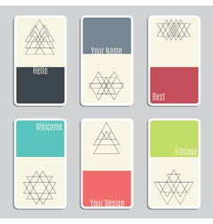 Set of visit cards with geometric figures vector