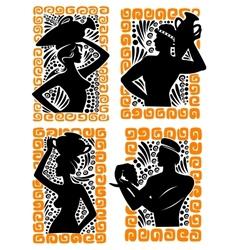 Classical greek or roman figures vector