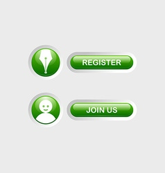 Register and join us buttons vector