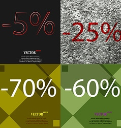 25 70 60 icon set of percent discount on abstract vector