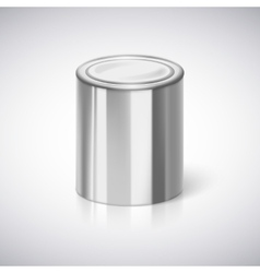Tin closeup with reflection vector