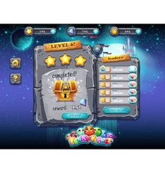 User interface for computer games and web design vector