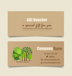 Gift coupons with nature background vector