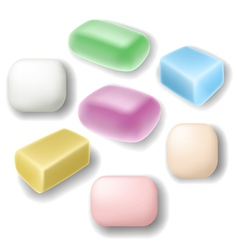 Soap set vector