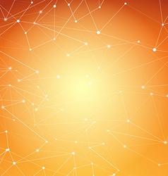 Modern abstract molecule net connection shine vector