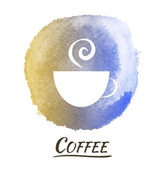 Drink coffee watercolor concept vector