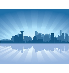 Vancouver skyline vector
