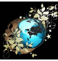 World floral vector