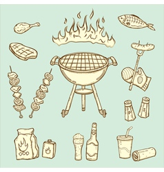 Barbecue set vector
