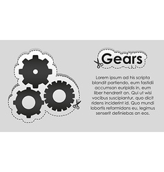 Tag lines and image cut gears vector