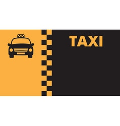 Business card for taxi drivers vector