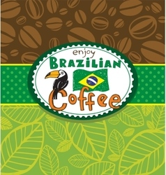 Brazilian coffee background vector