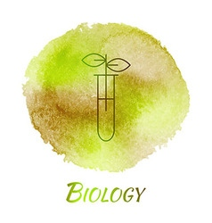 Science environment biology watercolor concept vector