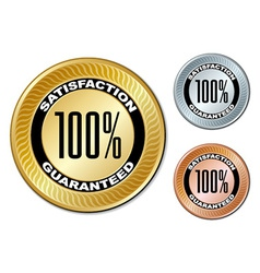 Satisfaction guaranteed labels vector