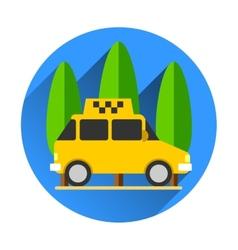 Taxi car flat design vector