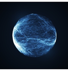 Full blue moon at dark night sky background vector