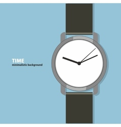 Time minimalistic background vector