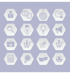 Web application for business e commerce icon set vector