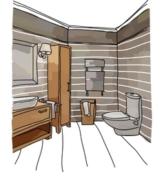 Luxury bathroom interior vector