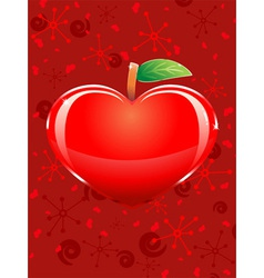 Appleshaped heart vector