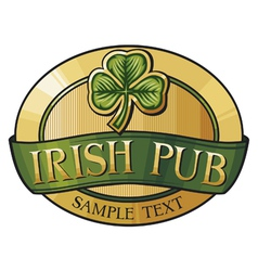 Irish pub label design vector