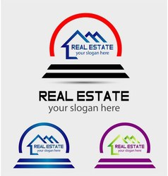 Creative abstract real estate logo vector