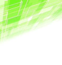 Abstract green tile perspective backdrop vector