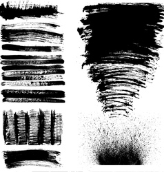 Hand drawn brush strokes vector