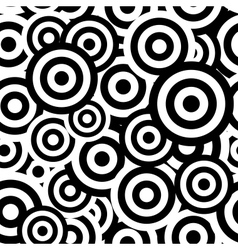 Black and white hypnotic seamless pattern vector