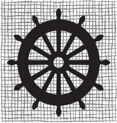 Ship wheel icon resize vector