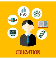 Education flat infographics template vector