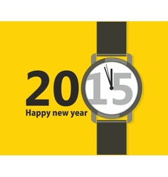 Minimalistic creative poster happy new year vector