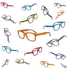 Flying glasses vector