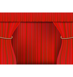 Rope frame curtain full vector
