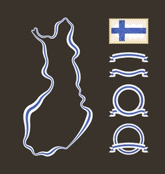 Colors of finland vector