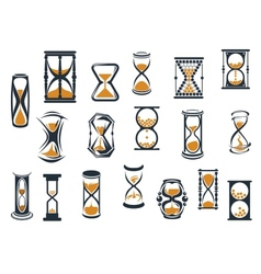 Hourglasses and egg timers set vector