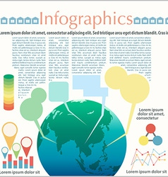 The earths infographics vector